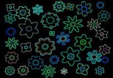 Fleurs au néon Photographie stock