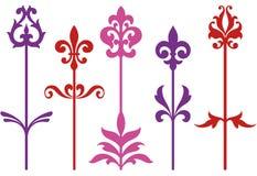 Fleurs baroques ornementales Images libres de droits
