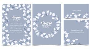 Fleurs blanches de vecteur Image libre de droits