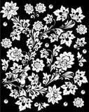Fleurs blanches et feuillage illustration stock