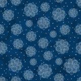 Fleurs blanches sur le bleu Illustration Libre de Droits