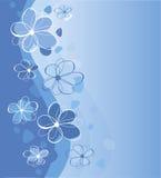 Fleurs bleues Illustration Stock