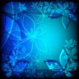 Fleurs bleues abstraites Images stock
