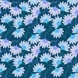 Fleurs bleues abstraites Image libre de droits