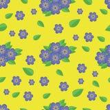 Fleurs bleues d'†sans couture de modèle « Images libres de droits