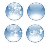 fleurs bleues de boutons Photo stock