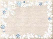 Fleurs bleues et blanches sur le mur Images stock