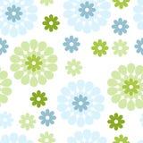 Fleurs bleues et vertes Photo stock