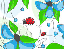 Fleurs bleues, sur un fond blanc Photo libre de droits