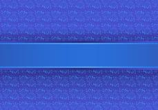 Fleurs bleues, sur un fond pourpré Images stock