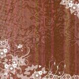 fleurs brunes de fond Image libre de droits