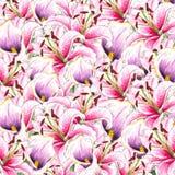 Fleurs Callas et lis d'aquarelle Fond floral Configuration de fleur illustration de vecteur