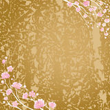 Fleurs cerise et fond de texture Images stock