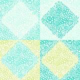 Fleurs circulaires décoratives Seamles de textile de patchwork de papier peint Images libres de droits