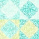 Fleurs circulaires décoratives Seamles de textile de patchwork de papier peint Image stock