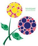 Fleurs colorées abstraites Un symbole de la pureté, de la paix, de l'amour et du bonheur Image libre de droits