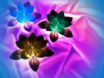Fleurs colorées d'origami photos libres de droits