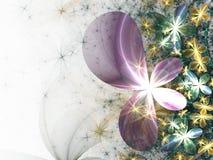Fleurs colorées de fractale Images stock