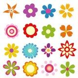 Fleurs colorées de source illustration de vecteur