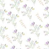 Fleurs colorées en pastel et nature sans couture de brunch Illustration Libre de Droits