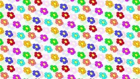 fleurs colorées par fond Images stock