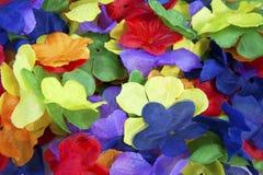 Fleurs colorées de tissu Images libres de droits