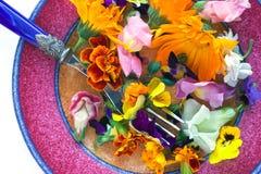 Fleurs comestibles Images libres de droits