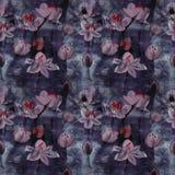 Fleurs - composition décorative watercolor Configuration sans joint Photographie stock libre de droits