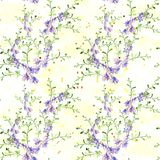 Fleurs - composition décorative watercolor Configuration sans joint Images stock