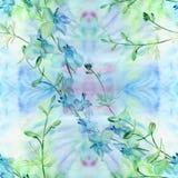 Fleurs - composition décorative watercolor Configuration sans joint Employez les matériaux imprimés, signes, articles, sites Web, Images stock