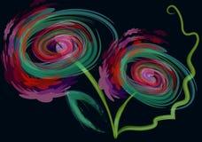 Fleurs créatrices Illustration Stock