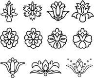 Fleurs décoratives Photos stock