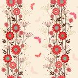 Fleurs décoratives affectueuses de vecteur Image libre de droits