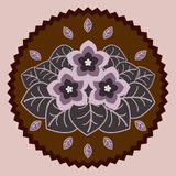 Fleurs décoratives de chocolat Photos stock