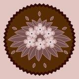 Fleurs décoratives de chocolat Images libres de droits