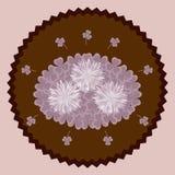 Fleurs décoratives de chocolat Photos libres de droits
