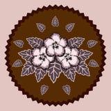 Fleurs décoratives de chocolat Image libre de droits