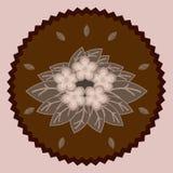Fleurs décoratives de chocolat Image stock