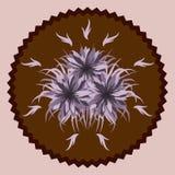 Fleurs décoratives de chocolat Photographie stock libre de droits