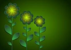 Fleurs décoratives sur un fond foncé Image stock