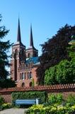 Fleurs d'été à la cathédrale de Roskilde image libre de droits