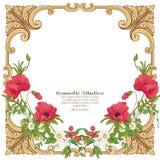 Fleurs d'été : pavot, jonquille, anémone, violette, dans s botanique Images stock