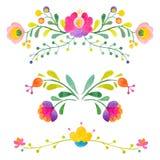Fleurs d'abrégé sur vecteur d'aquarelle illustration libre de droits