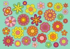 Fleurs d'années '60 Photo stock