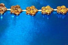 Fleurs d'or de célébration Image libre de droits