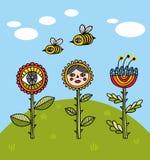 Fleurs d'heure d'été illustration libre de droits