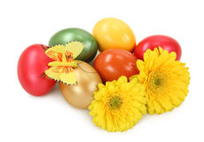 fleurs d'oeufs de pâques Image libre de droits