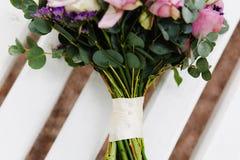 Fleurs d'un mariage de violette Images libres de droits