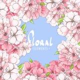 Fleurs d'un pommier sur un ciel bleu Photos libres de droits