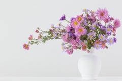 Fleurs dans des vases en céramique Photos stock